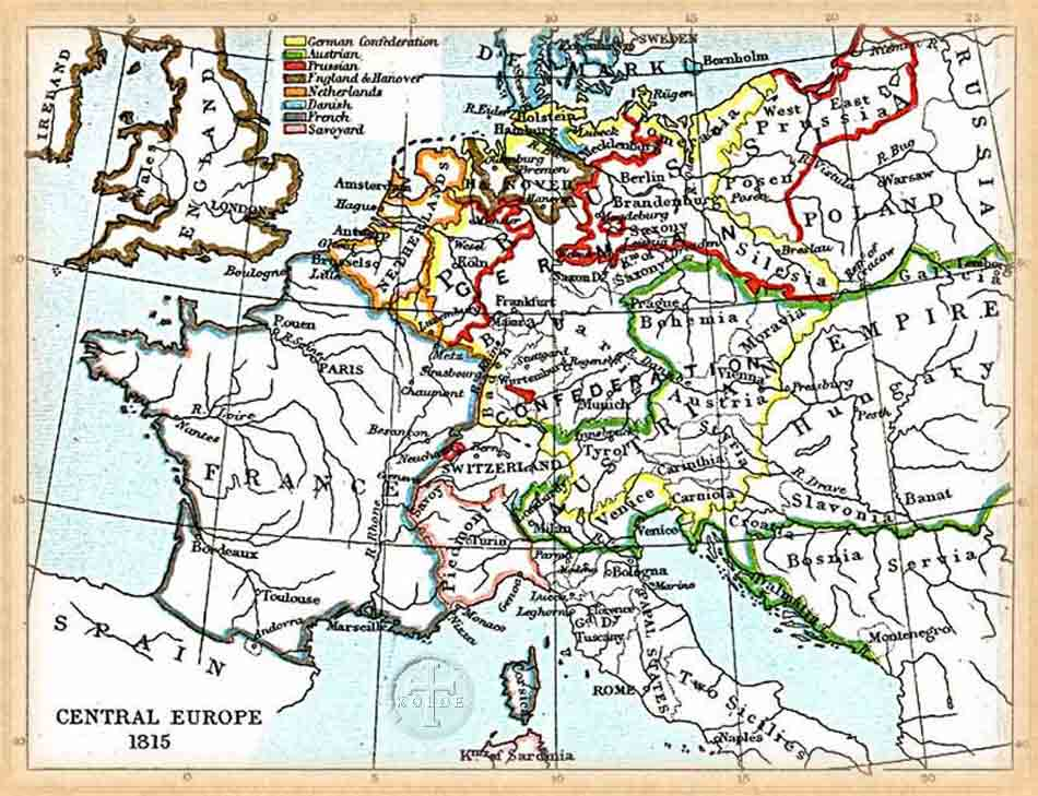 The Kolbe Foundation: Historical Map Collection, Central Europe 1815