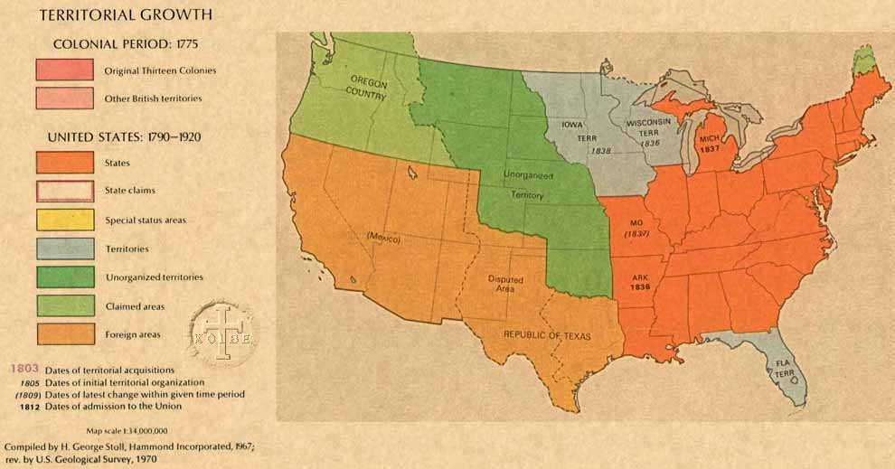 The Kolbe Foundation Historical Map Collection North America - Us map 1840