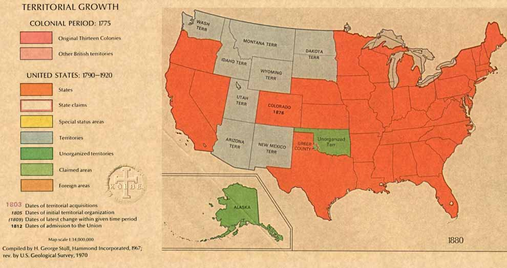The Kolbe Foundation Historical Map Collection North America Us - 1880-map-of-us